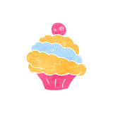 Retro cartoon muffin Royalty Free Stock Image