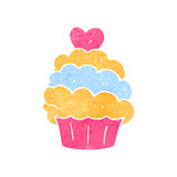 Retro cartoon muffin Stock Photography