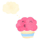 Retro cartoon muffin Stock Images
