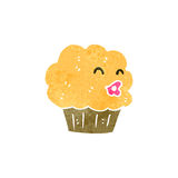 retro cartoon muffin with face Royalty Free Stock Photography