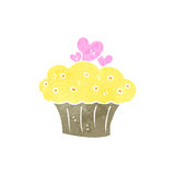 Retro cartoon muffin Stock Photo