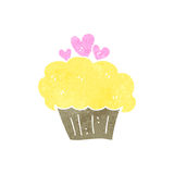 Retro cartoon muffin Royalty Free Stock Photos