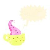 Retro cartoon mug with tentacle Royalty Free Stock Image