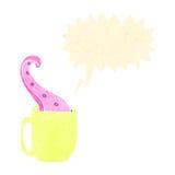 Retro cartoon mug with tentacle Stock Photos