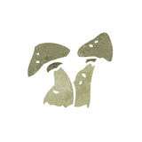 Retro cartoon mushrooms Royalty Free Stock Photography