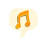 retro cartoon musical note symbol Royalty Free Stock Photo