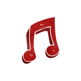 retro cartoon musical note symbol Royalty Free Stock Photos
