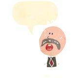 Retro cartoon mustache man Stock Photos