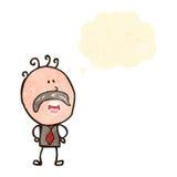 Retro cartoon mustache man Royalty Free Stock Image