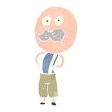 Retro cartoon mustache man Stock Photo
