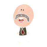 Retro cartoon mustache man Royalty Free Stock Images
