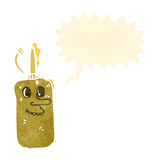 Retro cartoon mustard bottle Royalty Free Stock Image