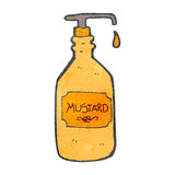 Retro cartoon mustard bottle Stock Image