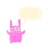 Retro cartoon mutant bunny rabbit Stock Image