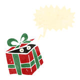 Retro cartoon mystery present Stock Image