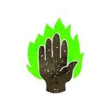 Retro cartoon mystic hand symbol Stock Photo