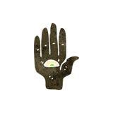 Retro cartoon mystic hand symbol Stock Image