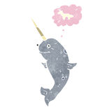 Retro cartoon narwhal Royalty Free Stock Photography