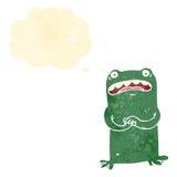 Retro cartoon nervous frog Royalty Free Stock Photography