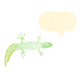 Retro cartoon newt Stock Images