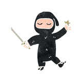 retro cartoon ninja Royalty Free Stock Image