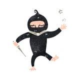 retro cartoon ninja Stock Photography