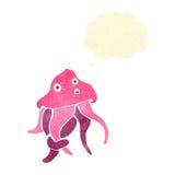 Retro cartoon octopus Royalty Free Stock Photos