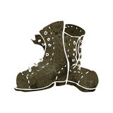 retro cartoon old boots Royalty Free Stock Image