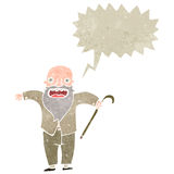 Retro cartoon old man shouting Royalty Free Stock Photos