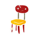 Retro cartoon old school chair Stock Photos