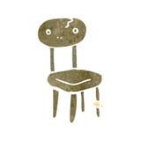 Retro cartoon old school chair Stock Image