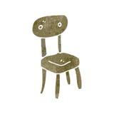 Retro cartoon old school chair Stock Images