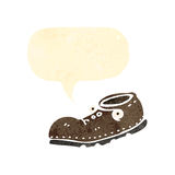 retro cartoon old shoe Royalty Free Stock Images