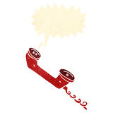 retro cartoon old telephone handset Stock Images
