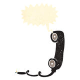 retro cartoon old telephone receiver Royalty Free Stock Image