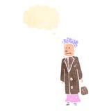 Retro cartoon old woman Stock Photos