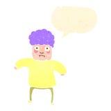 Retro cartoon old woman with speech bubble Royalty Free Stock Photo