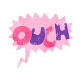 Retro cartoon ouch symbol Royalty Free Stock Images