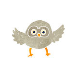 Retro cartoon owl Royalty Free Stock Images