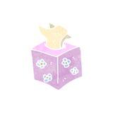 Retro cartoon pack of tissues Stock Photography