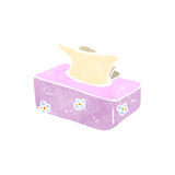 Retro cartoon pack of tissues Royalty Free Stock Photo
