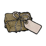 Retro cartoon parcel Royalty Free Stock Image