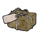 Retro cartoon parcel Royalty Free Stock Photos