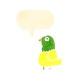 Retro cartoon parrot Royalty Free Stock Photos