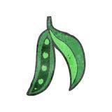 Retro cartoon peas in pod Stock Images