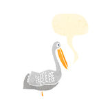 Retro cartoon pelican Royalty Free Stock Photo
