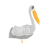 Retro cartoon pelican Royalty Free Stock Photography