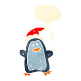 Retro cartoon penguin Stock Image