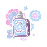retro cartoon perfume bottle Royalty Free Stock Photos