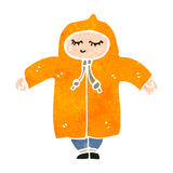 retro cartoon person in rain coat Stock Photo
